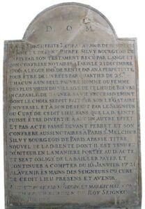 Inscription à l'intérieure de l'Eglise de Bièvres