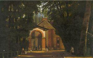 Peinture du château de Bièvres (Peintre inconnu)